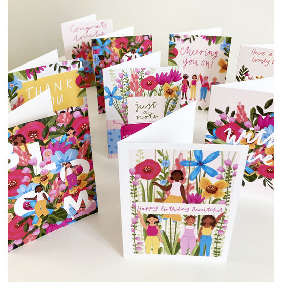 In Bloom Assorted Pack Of 10 Greetings Cards