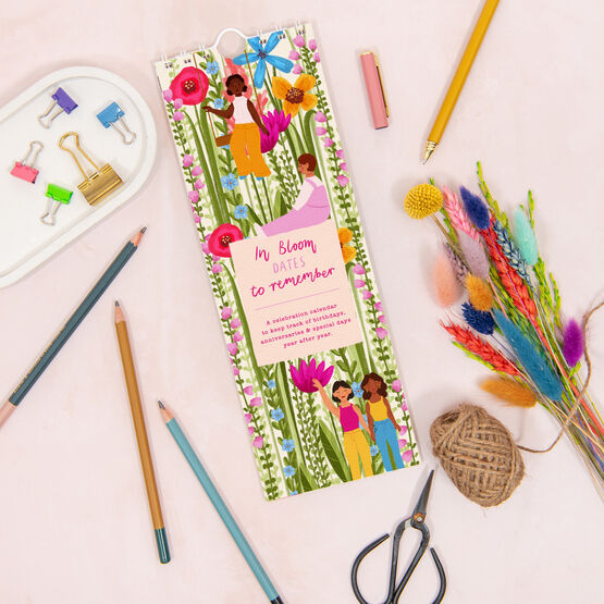 Bright Floral Personalised Perpetual Birthdays Calendar