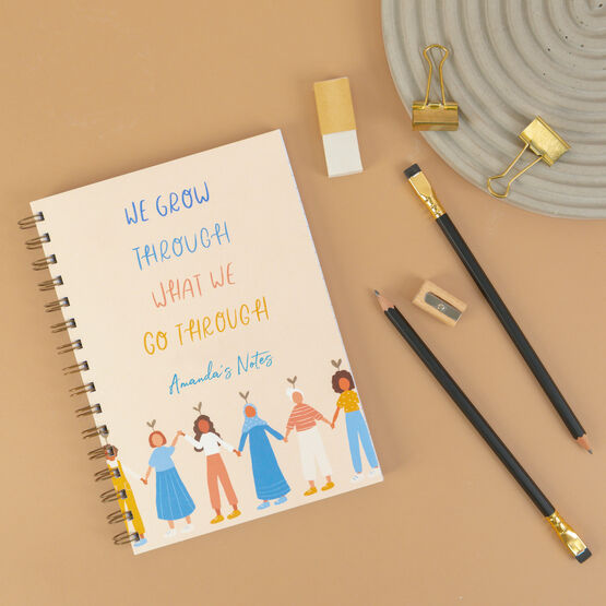 'Grow Through What We Go Through' Personalised Luxury Notebook