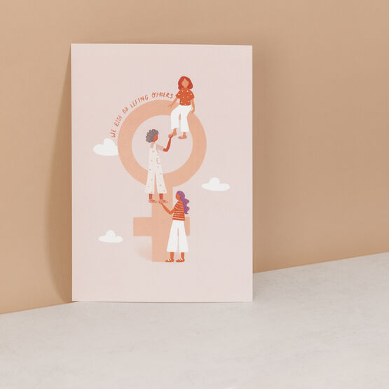 Venus Symbol Feminist Women Supporting Women Art Print