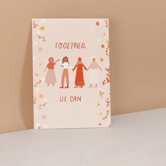 'Together We Can' Empowering Women Art Print