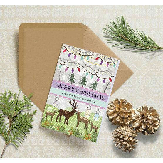 Woodland Deer Personalised Christmas Cards