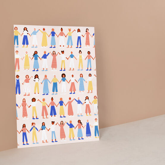 Women Supporting Women Illustrated A4 Print