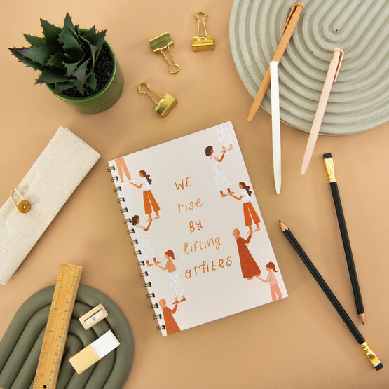 'We Rise By Lifting Others' Lined Notebook