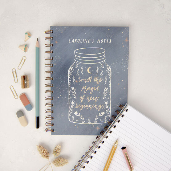 Trust The Magic Of New Beginnings Personalised Notebook