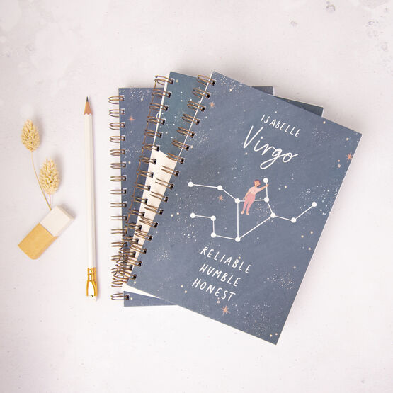 Personalised Zodiac Star Sign Astrology Notebook