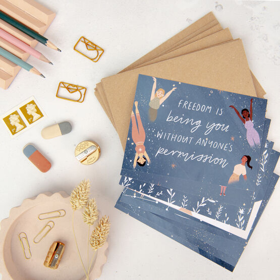 10 'Peaceful Night' Empowering Affirmation Note Cards With Envelopes