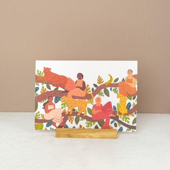 Wild Women Jungle Themed Landscape Wall Art Print