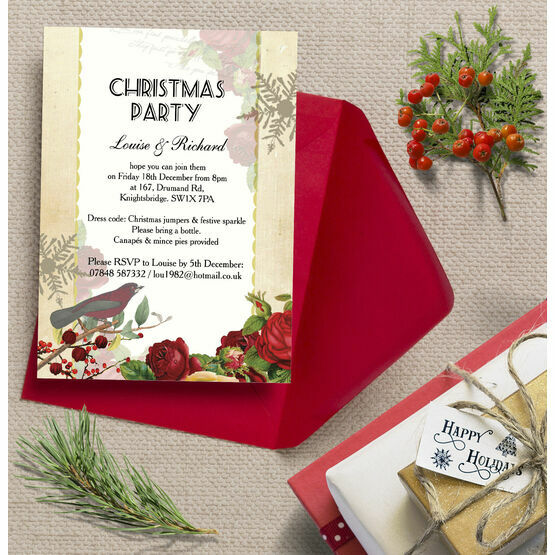 Personalised 'Winter Wonderland' Christmas Party Invitations