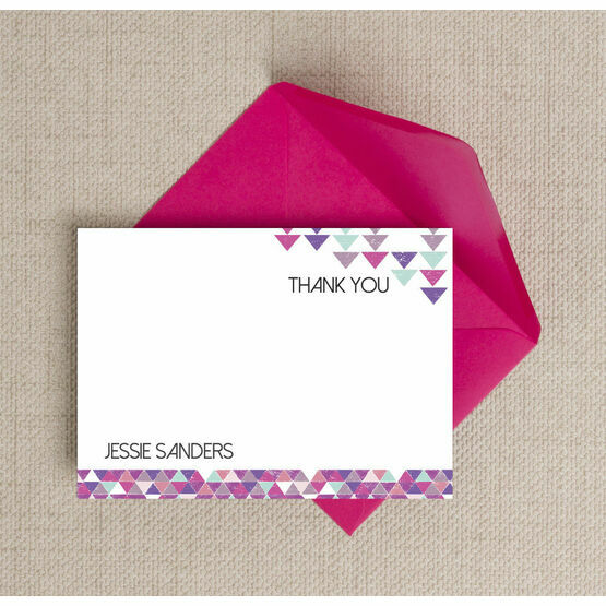 Personalised Geometric Thank You Cards