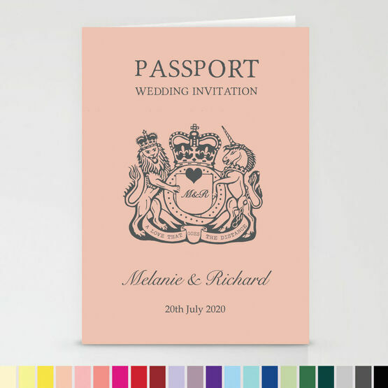 Passport Travel Themed Wedding Invitation