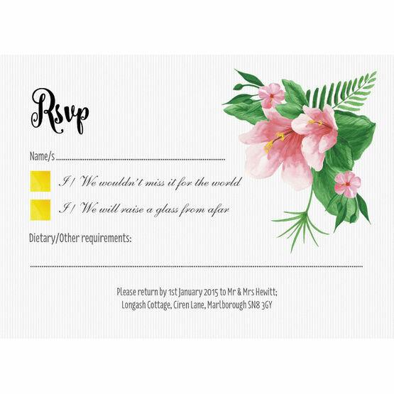 Tropical Flower RSVP