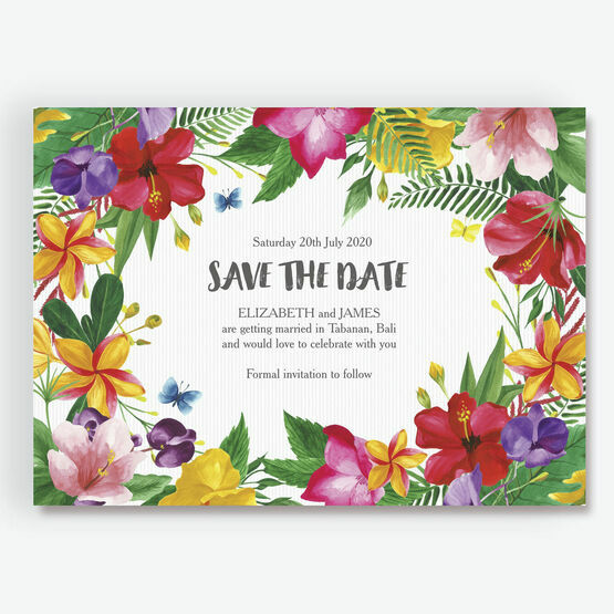 Tropical Hibiscus Save the Date