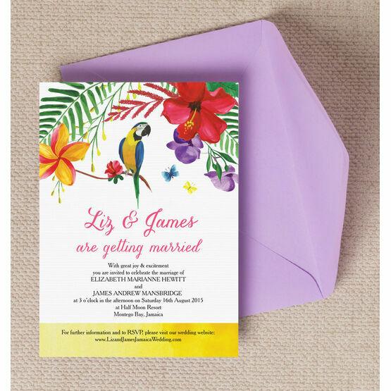 Tropical Paradise Wedding Invitation