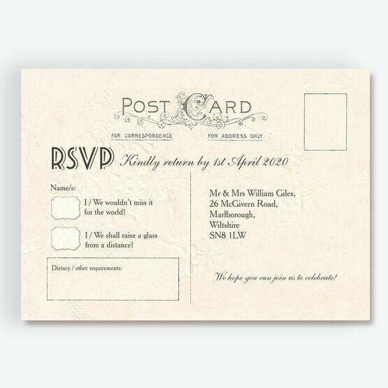 Vintage Postcard RSVP