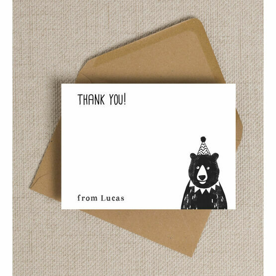 Grizzly Bear Personalised Thank You Cards
