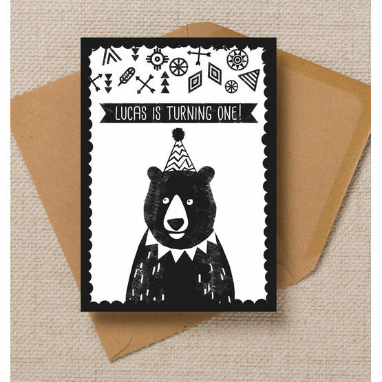 Grizzly Bear Party Invitation