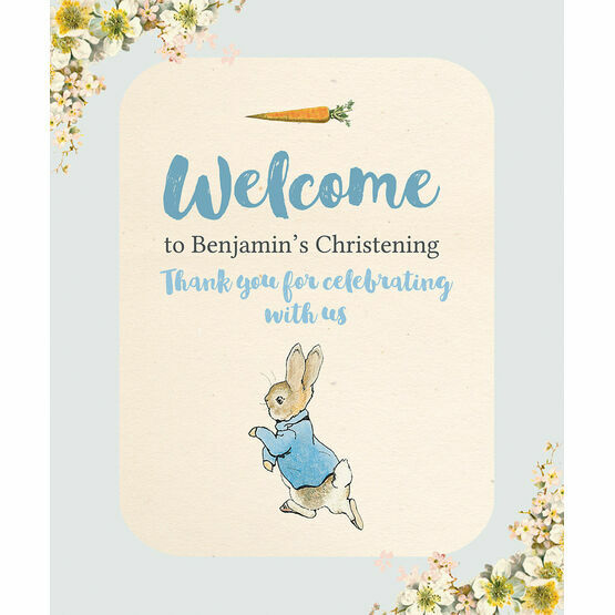 Beatrix Potter Peter Rabbit Party Welcome Sign