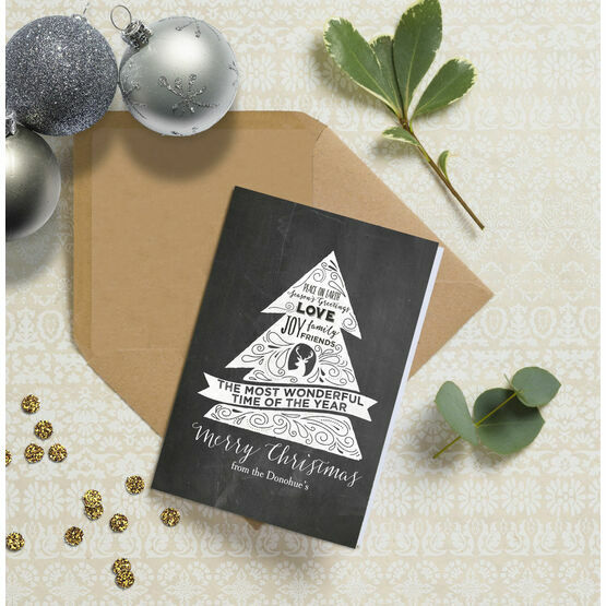 Chalkboard Personalised Christmas Cards