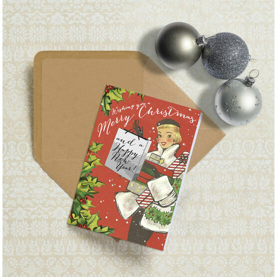 Vintage Fashion Personalised Christmas Cards