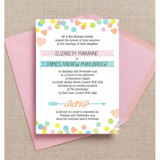 Candy Confetti Wedding Invitation