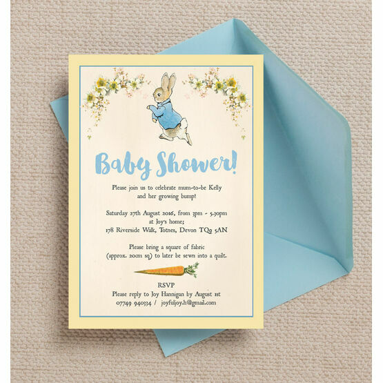 Peter rabbit baby shower invitation from 080 each peter rabbit baby shower invitation filmwisefo