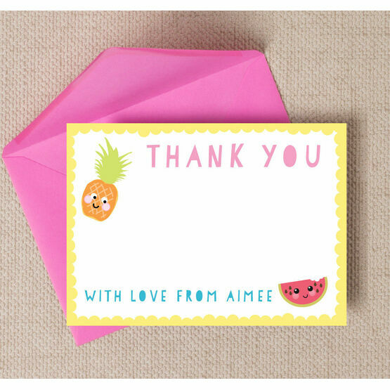Kawaii Cute Fruit Thank You Cards