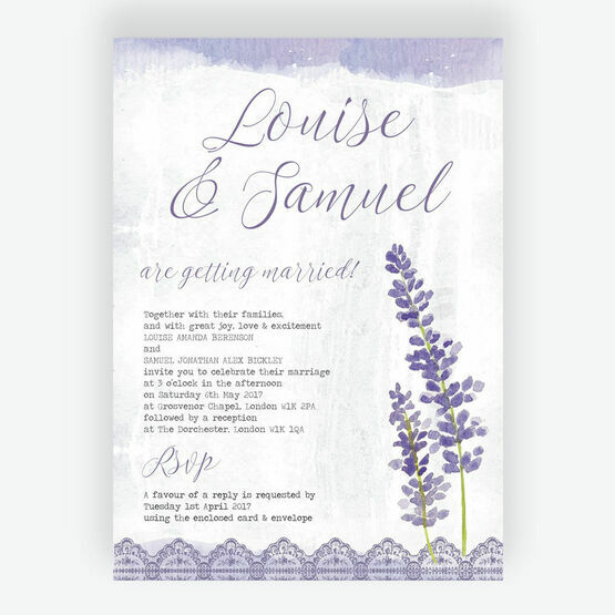Lilac & Lavender Wedding Invitation