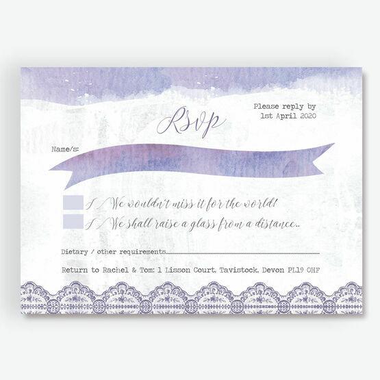 Lilac & Lavender RSVP