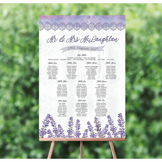 Lilac & Lavender Wedding Seating Plan