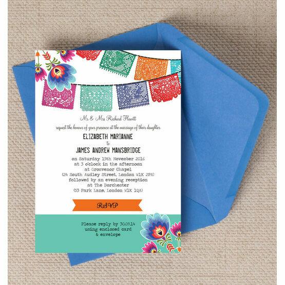 Mexican Fiesta Wedding Invitation