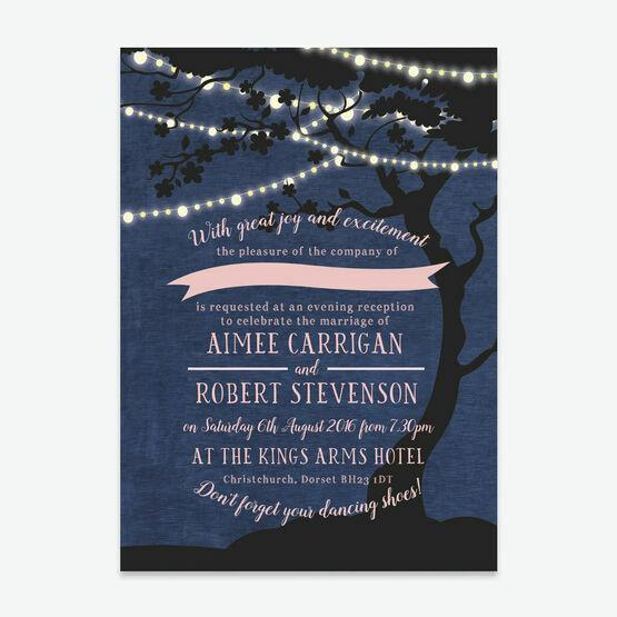 Enchanted Fairy Lights Evening Reception Invitation