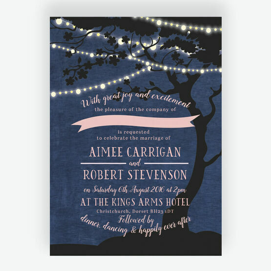 Enchanted Fairy Lights Wedding Invitation