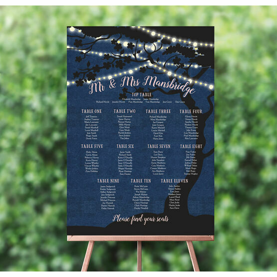 Enchanted Fairy Lights Wedding Seating Plan