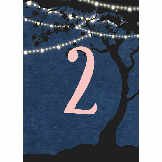 Enchanted Fairy Lights Table Number