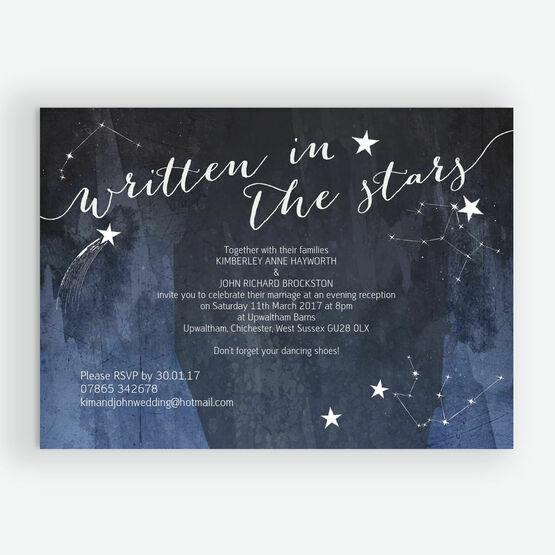 Midnight Stars Evening Reception Invitation