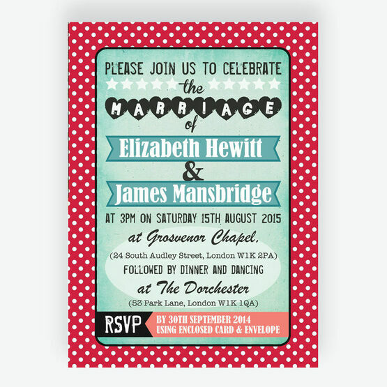 Rockabilly Retro Wedding Invitation