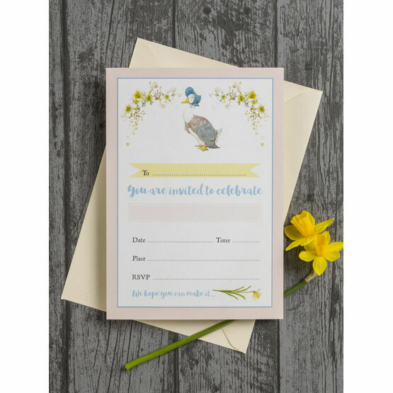 Pack of 10 Beatrix Potter Jemima Puddle-Duck Invitations