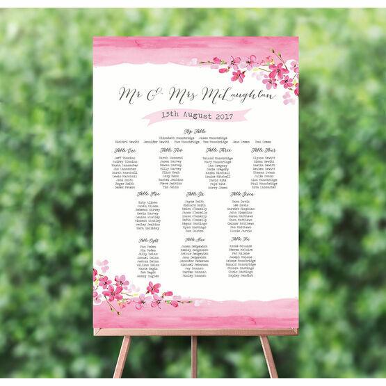Cherry Blossom Wedding Seating Plan