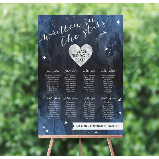 Midnight Stars Wedding Seating Plan