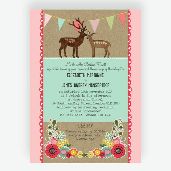 Rustic Woodland Wedding Invitation