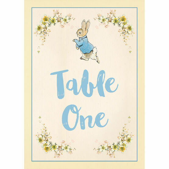 Beatrix Potter Peter Rabbit Party Table Number