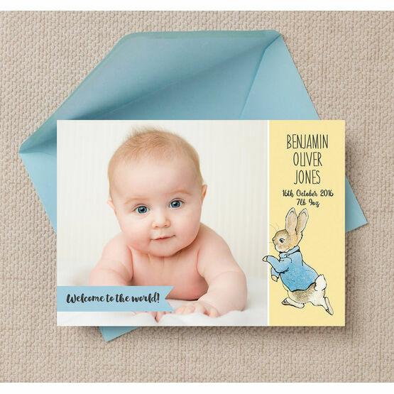 Beatrix Potter's Peter Rabbit Photo Birth Announcement Card
