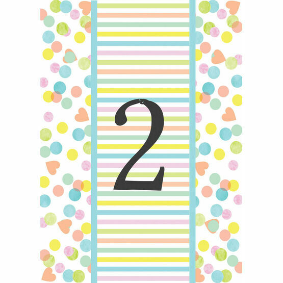 Candy Confetti Table Number
