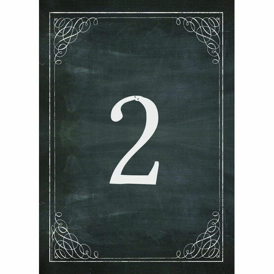 Chalkboard Table Number