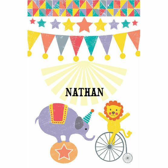 Circus Fun Name Cards - Set of 9