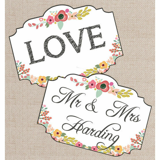 Personalised Printable Floral Photo Booth Signs