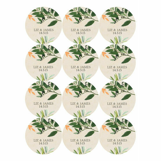 Flora Wreath Stickers - Sheet of 12