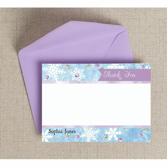 Frozen Ice Thank You Cards