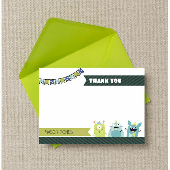 Monster Mayhem Thank You Cards